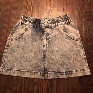 Urban Outfitters Acid Wash Denim Skirt